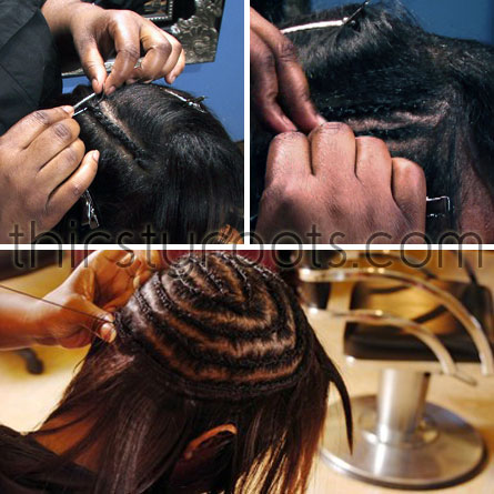 how do you put weave in hair