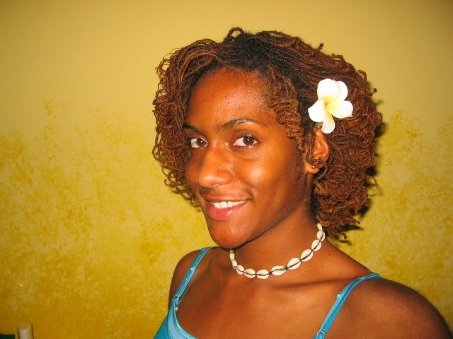 Curly Dreadlocks Hairstyle For Wedding