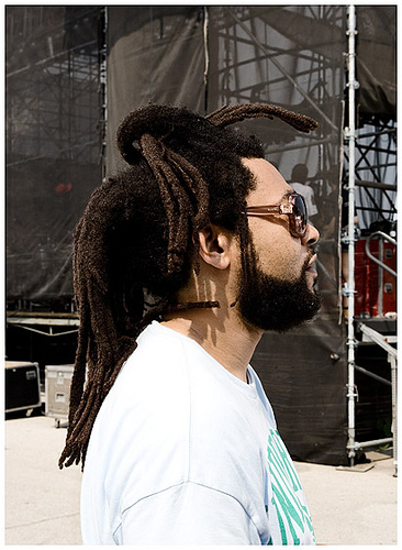 Men Rasta Dreadlock Hairstyle Black