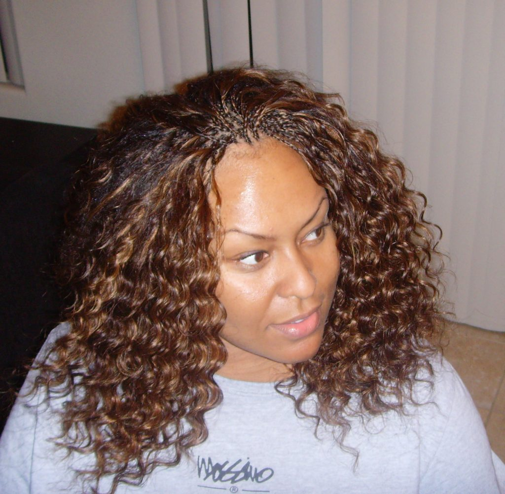 Invisible Braids With Curly Hair Weave