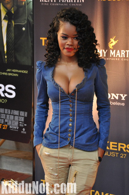 Teyana Taylor Long Coiled Curly Hair