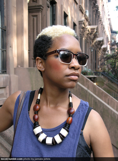 for short hairstyles for black women with natural hair tresses.