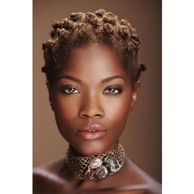 bantu knots short hair