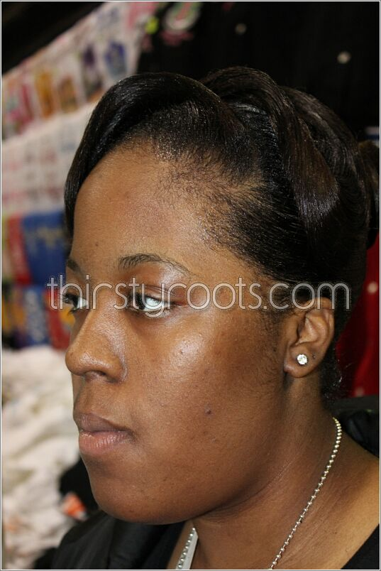 Relaxed Hairstyles Updo Finger Waves Side View