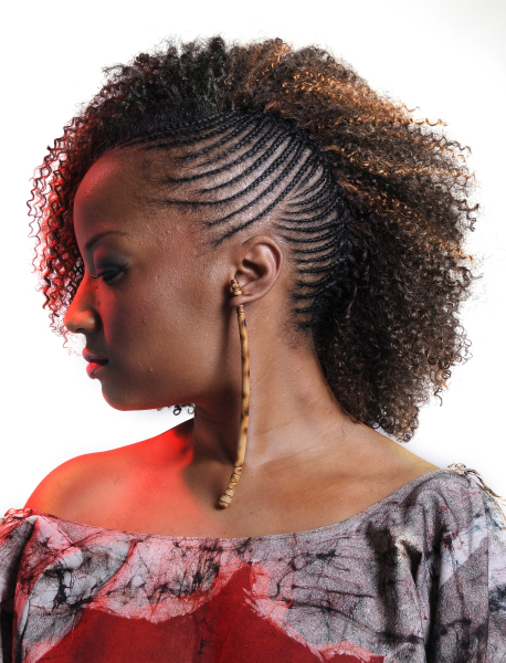 One Side Cornrows Braided Hairstyle
