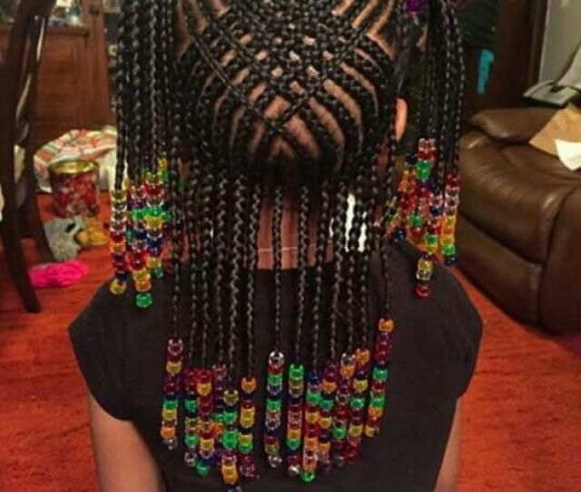 Braids For Kids Beads Hairstyle