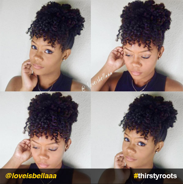 Curly-bun-and-bangs-updo-natural-hairstyle