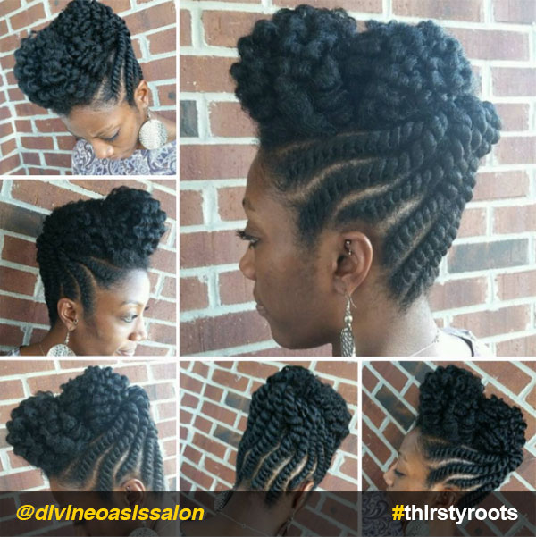 Flat-twist-high-bun-updo-natural-hairstyle