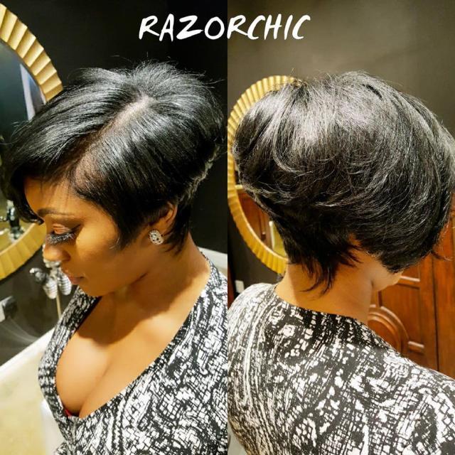 "porsha williams' short haircut is ""razor chic"""