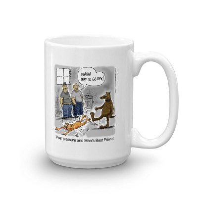 mans best friend coffee mug 15oz