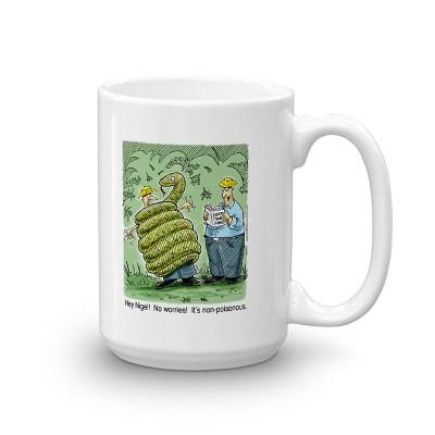 non poisonous snake coffee mug 15oz
