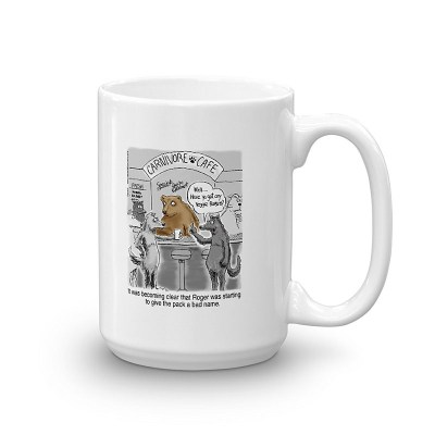 vegetarian wolf coffee mug 15oz