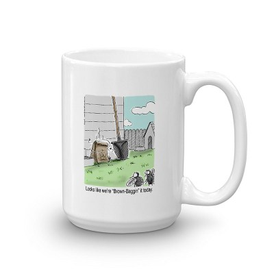 brown bagging it coffee mug 15oz