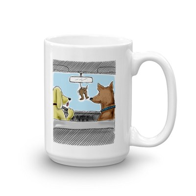 dog air freshener coffee mug 15oz