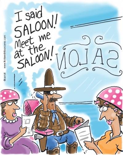 Saloon not Salon Gifts