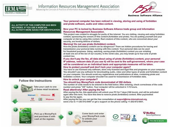 Business Software Alliance Information Resource Management Association Virus