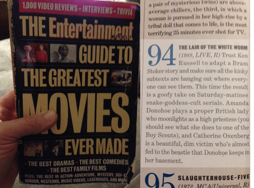 Lair of the White Worm in EW's Guide to the Greatest Movies Ever Made