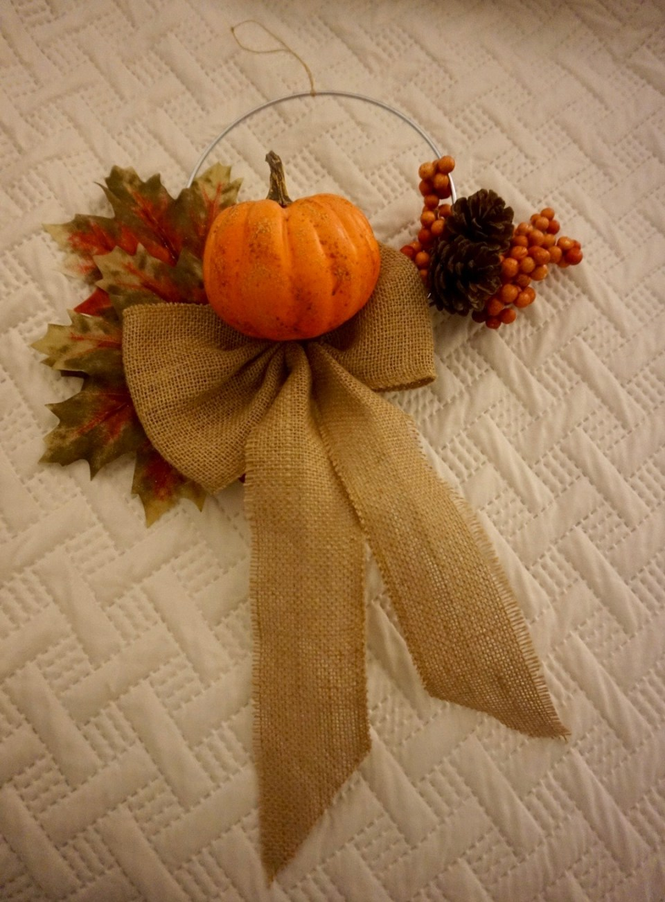 Simple Fall Wreath (with repurposed materials)