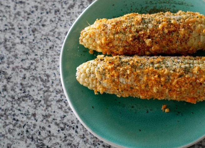 Not only are elotes a well known Mexican street food, they are also a fair food favorite in Texas. You don't exactly have to go to a fair to have these.