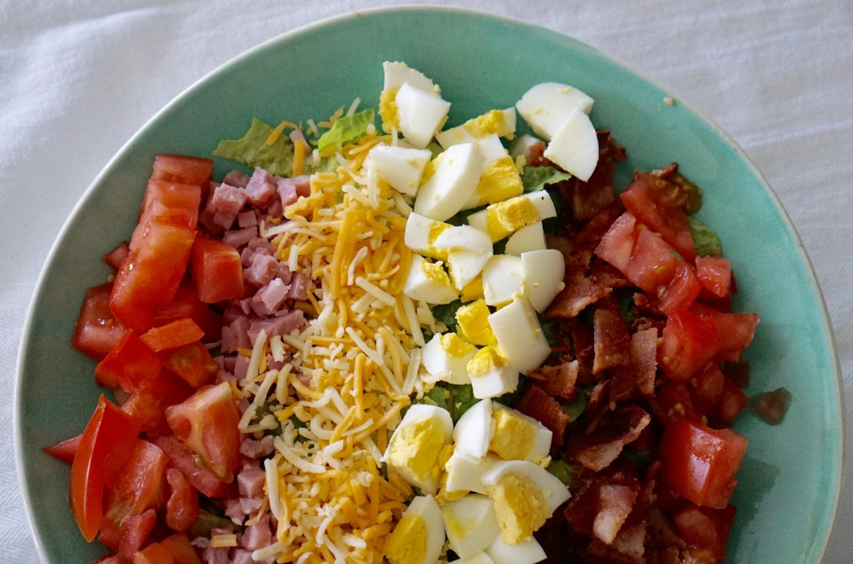 This cobb salad is so easy to make, you won't have salad any other way. food, food recipes, food recipes for dinner, food ideas, food photography, food that deserves attention, food envy, food group