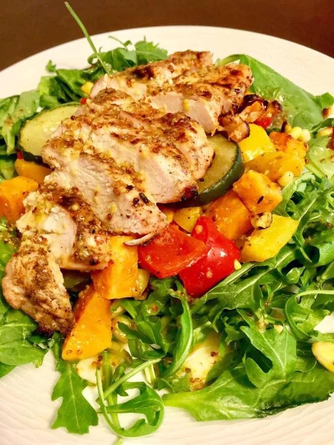 Honey Mustard BBQ Chicken & Vegetable Salad