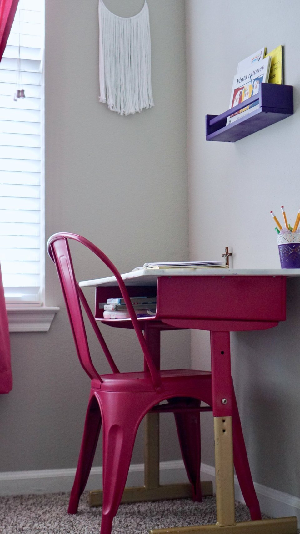 Vintage Desk Make-Over for Girl's Room
