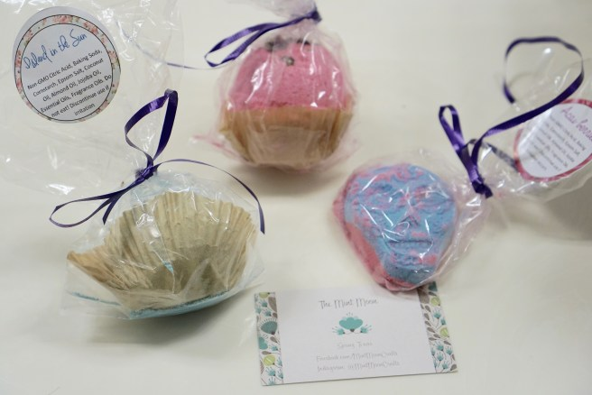 bath bombs for a spa like experience from the comfort of home; a Texas handmade product by The Mint Moon