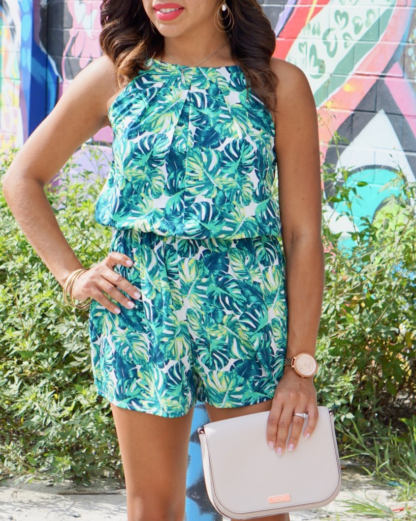 Palm Tree Romper