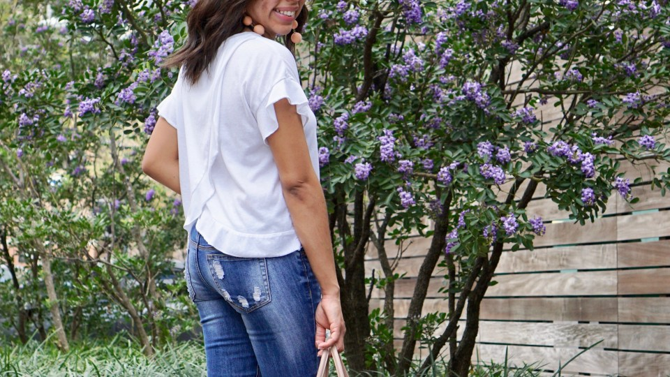 How a White Tee Can Easily Be Dressed Up
