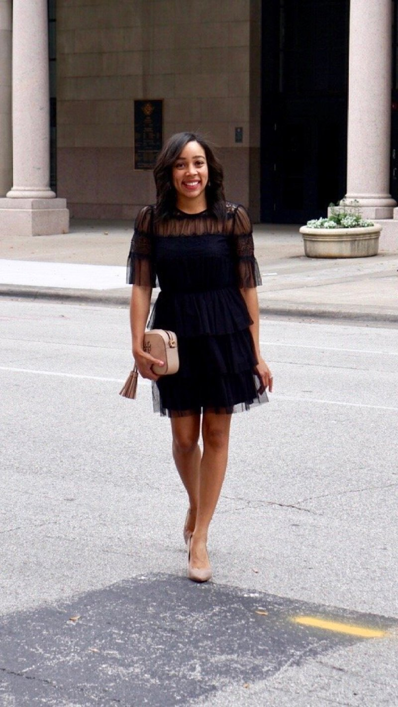 dresses, black lace dress, black dress with sleeves, perfect little black dress, little black dress, plus size black strappy dress, little black dress, chanel little black dress song, Sheer Tiered-Ruffle Dress, dress, valentine's day dress, valentine's day outfit, little black dress, lbd, black dress
