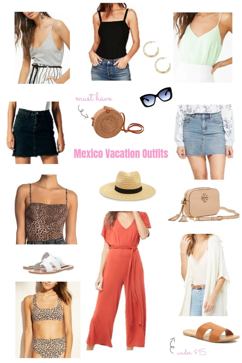five day vacation, packing list, five day vacation in mexico, Mexico Vacation, Vacation Outfits, What to Wear, Outfits, Spring Break Outfits, Spring Break