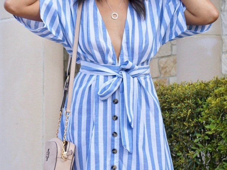 Trendy Thursday LinkUP + The Blue Stripes Dress that's Perfect for Spring