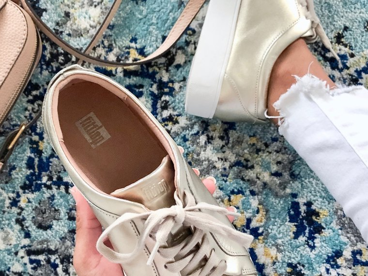 How to Wear Metallic Sneakers this Spring