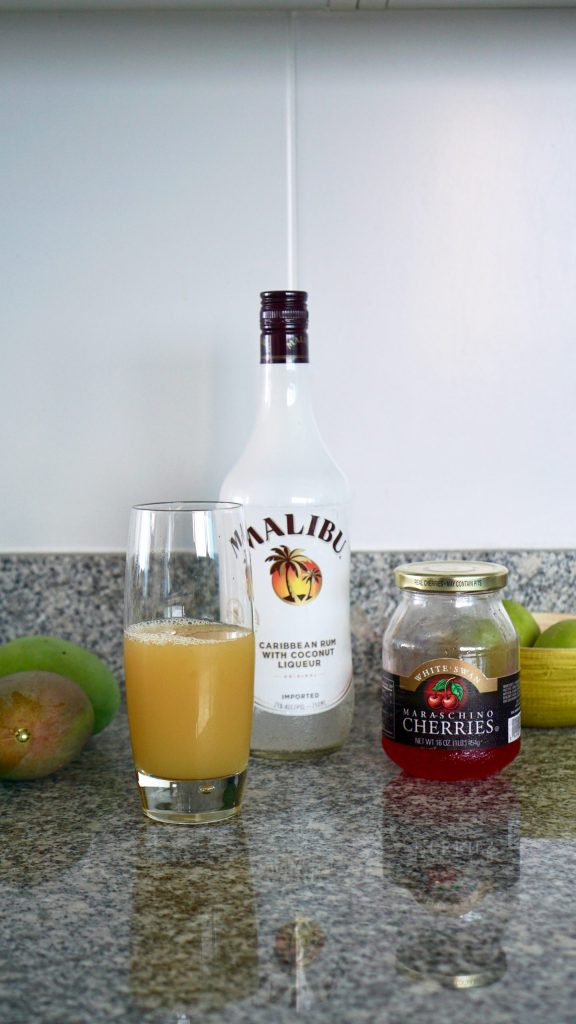 Malibu Sunrise, Malibu Rum, Rum Recipes, Delicious Rum Recipe, Three Ingredient Recipe, Easy Drink Recipe