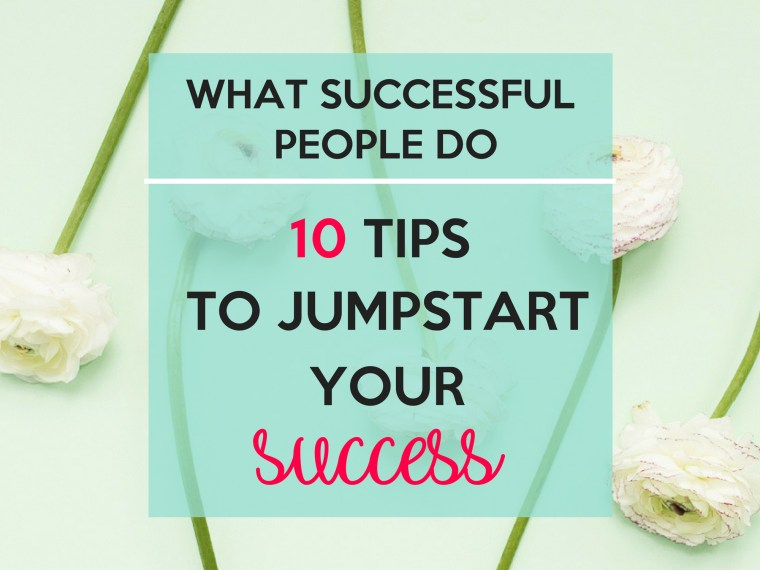 What successful people do.