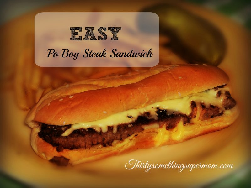 This easy Po Boy Steak Sandwich is delicious and anyone can make it!
