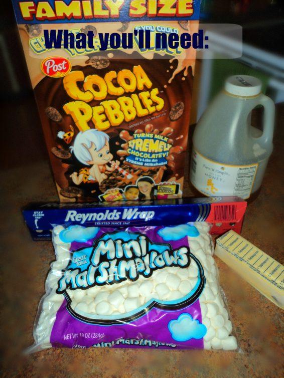 coco pebbles cereal bars