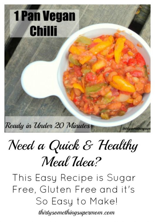 Easy to make One Pan Vegan Chilli