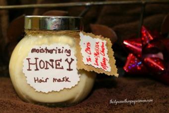 diy honey hair mask gift  thirtysomethingsupermom