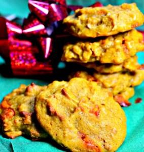 Harvest Apple Pumpkin Spice Cookies