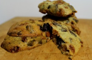Chewy Caramel Chocolate Chunk Cookies