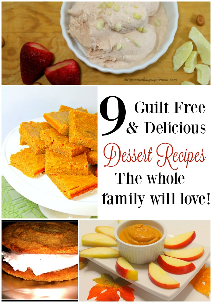 These guilt free recipes are so easy to make and the whole family loves them! No sugar, no dairy, lots of flavor!