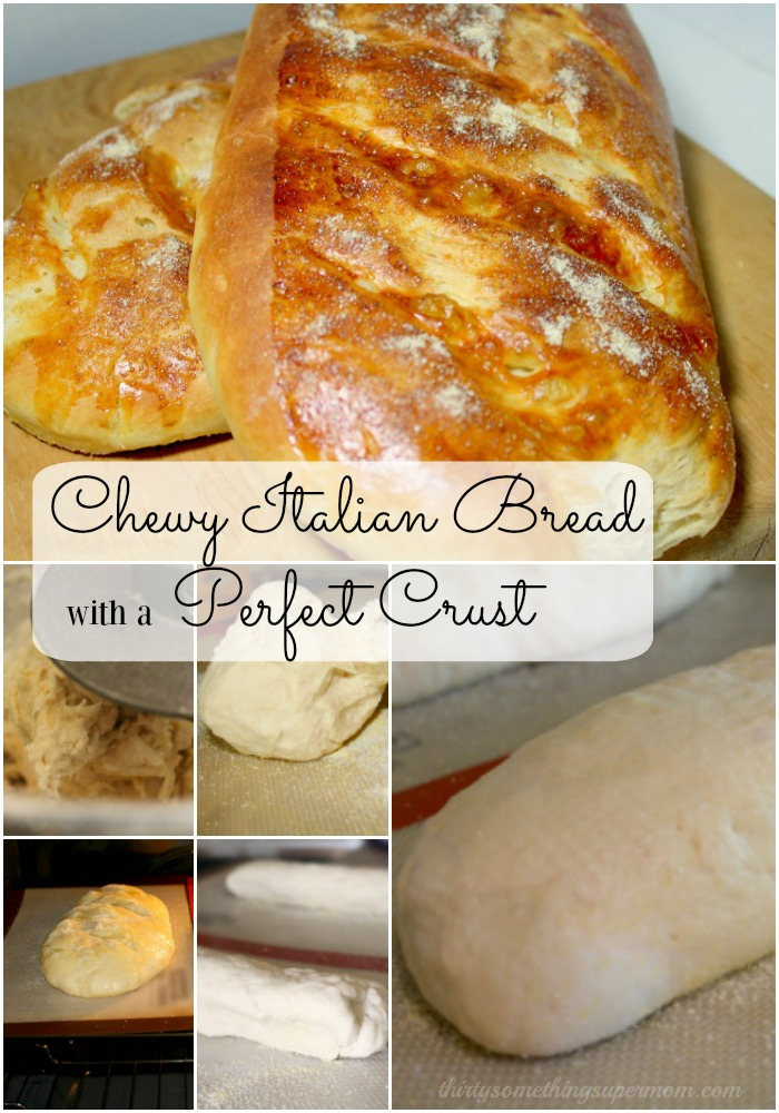 This chewy Italian Bread has the perfect texture from the crispy crust to the chewy middle.