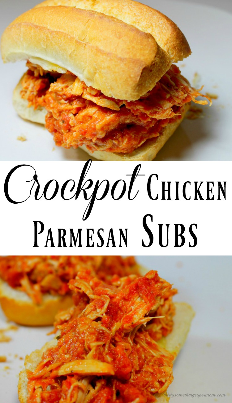 Crockpot Chicken Parmesan Subs