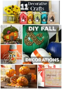 These 11 Fun Fall Crafts will not only give you fun projects to work on but they will all look great with any home decor. Even the kids can help out!