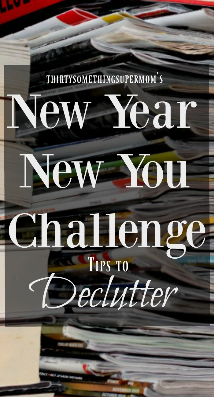 Declutter Tips from the Supermom New Year New You Challenge