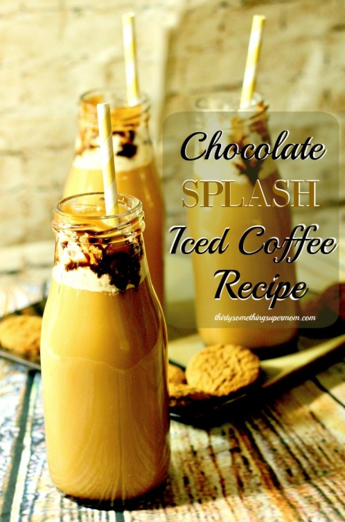 Iced Coffee Recipe with a splash of chocolate