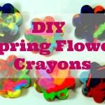 DIY Flower Crayons & Spring Printable
