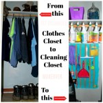 Clothes Closet to Cleaning Closet Makeover
