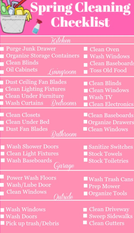 Printable Spring Cleaning Checklist for a Super Clean Home ...